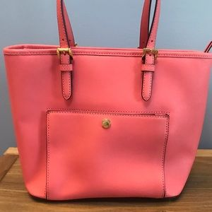 Michael Kors Coral Pink Tote Purse Bag - Like New!